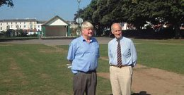 with C Cllr John Clatworthy at Dawlish