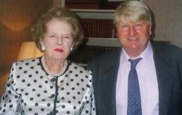 Stanley Johnson with Lady Thatcher