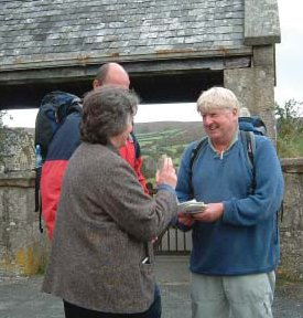Stanley Johnson on a sponsored walk