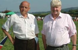 with Cllr Ted Bromell at Tedburn Fair