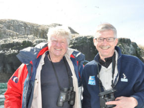 Stanley and Dr Mike Clarke of the RSPB