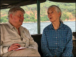 Stanley Johnson with Dr Jane Goodall
